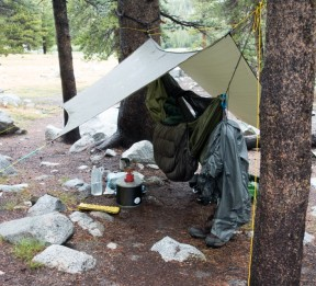 Hammock camping on the JMT.